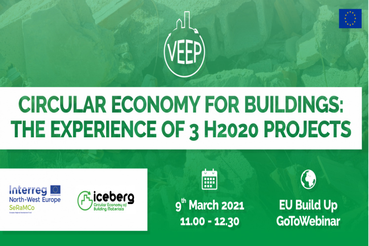 Exchange of experiences between three Horizon 2020 projects to improve circularity in the construction sector